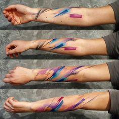 #simonablanar Life Tattoos, Body Art Tattoos, Small Tattoos, Cool Tattoos, Tatoos, Forearm Tattoos, Arm Band Tattoo, Bjj Tattoo, Watercolor Tattoo Music
