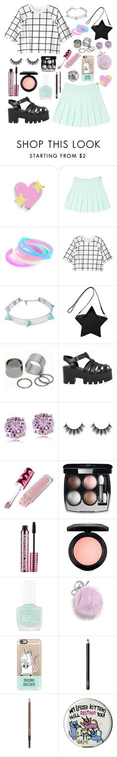 """""""Untitled #236"""" by isobelle206 ❤ liked on Polyvore featuring Big Bud Press, Monki, Pieces, Windsor Smith, Lime Crime, Chanel, Barry M, MAC Cosmetics, Maybelline and Halogen"""