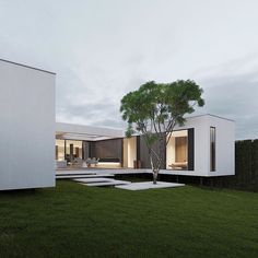 """Dope or nope? The House is a 230 sqm. modern home proposed to be built this year. Being placed on stilts, the main characteristic of the house is its visual impression of being a """"floating"""" home. The house is designed and visualized by Villa Design, Modern House Design, Living Haus, Modernisme, Floating House, Mansions Homes, Facade House, House Facades, Exterior Design"""