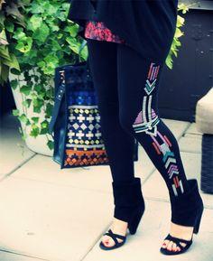 Topshop legging x Sophie Hulme bag