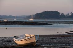 fin de journée à L'Ile-Tudy à marée basse (3 photos) #Bretagne #Finistere #BZH © Paul Kerrien http://toilapol.net