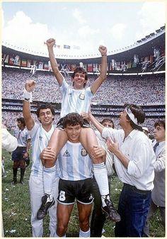 World Cup 1986: Argentina is world champion. Jorge Burruchaga scored the winning goal.