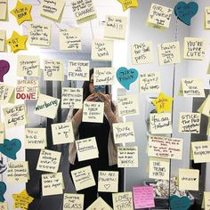 The women's bathroom at became a place of inspiration yesterday as women placed sticky notes on the mirror with uplifting messages to… Uplifting Messages, Cute Messages, Positive Messages, Positive Quotes, Body Positive, Notes For Friends, 365 Jar, Note To Self Quotes, Message Positif