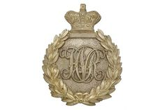 Badge. Indian Army. Hyderabad Volunteer Rifles Victorian Officer's pouch belt plate. A good silve