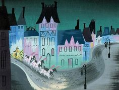 "Mary Blair concept art for Walt Disney's ""Cinderella"" (1953)"