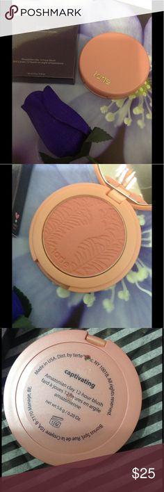 Beautiful long lasting blush Zero fallout you get all the color, mess free melts right into your skin beautiful peachy tone you will fall in love with this buildable and immovable blush... comes in original packaging tarte Makeup Blush