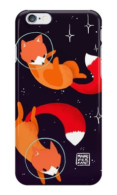 062f7838e447  Space Foxes  iPhone Case by Maike Vierkant