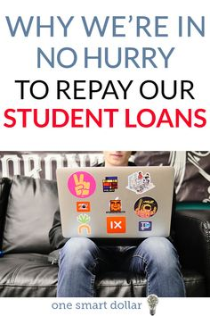 Why We Are In No Hurry To Repay Our Student Loans Are you struggling with student loan debt? Find out why we are in no big hurry to pay our off. Paying Off Student Loans, Student Loan Debt, Loan Money, Best Loans, Installment Loans, Debt Payoff, Debt Free, Money Management, Money Saving Tips