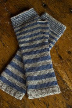 Churchmouse Accelerating Stripes in Reggia yarn combos