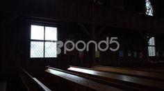 4k Traditional evangelic church inside pan Harz village Braunlage - Stock Footage   by Beckhusen