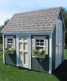 Make dreams come true with a playhouse that's perfect for creating new fantasies and worlds. At first a whimsical clubhouse, it can become a decorative garden shed as little ones grow older. Amish-handcrafted and American-made, this expertly designed modular kit features sliding safety glass windows with screens, flower boxes and even a door tall enough for adults, resulting in a playhouse that will last generations.