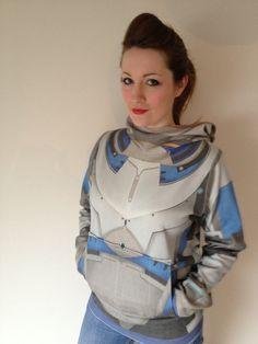 Custom Mass Effect reversible hoodie