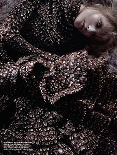 'Sogno Romantico': Vlada Roslyakova Photography by Javier Vallhonrat for Flair Italy, October 2006  wearing Alexander McQueen Fall Winter 2006