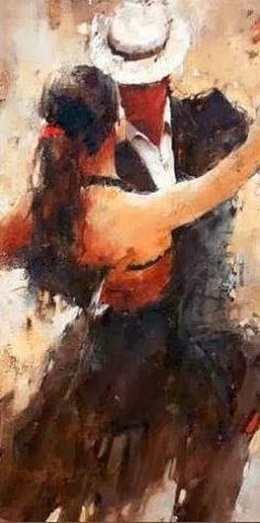 Andre Kohn - Born in Stalingrad in the heart of the former Soviet Union.--> I had my first Argentine Tango lesson today. It was very challenging, but in all of the right ways because I want to do this dance so badly. Belle Photo, Love Art, Painting & Drawing, Figure Drawing, Amazing Art, Art Photography, Art Gallery, Artsy, Street Art