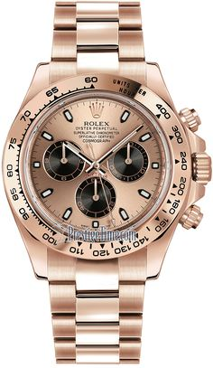 Rolex Cosmograph Daytona Everose Gold 116505 Pink and Black Index