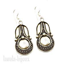 Boucles d'oreilles argent pendants alfa 1921, bijoux argent 925/1000°.