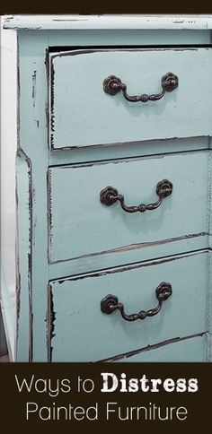 Ways to Distress Painted Furniture - interiors-designed.com