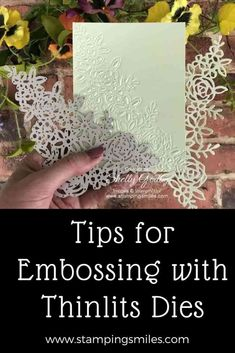Card Making Tips, Card Making Tutorials, Card Making Techniques, Making Ideas, Card Making Templates, Scrapbooking Machine, Embossing Techniques, Rubber Stamping Techniques, Embossed Cards