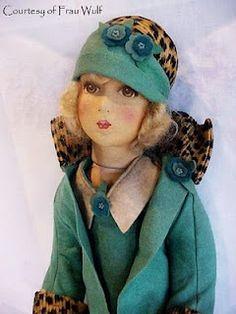 "a rare Dean's Rag Book ""Smart Set"" doll, made around 1927."