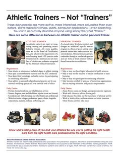 """Athletic trainer not """"TRAINER"""" and not Physical Education major. I need to hang this in my Athletic Training Rooms Athletic Trainer, Future Career, Sports Medicine, Love My Job, Workout Programs, Personal Trainer, Trainers, 3d Printing, Medical"""