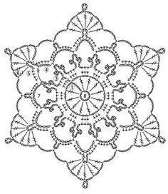 Crochet motif diagram.