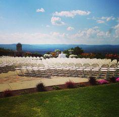 Wedding Ceremony on the Easthampton Terrace
