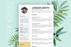 Home of Resumes Inspiration & Ideas, Beautiful Resume Ideas That Work, Find Daily High-quality resumes templates and design, Create your professional resume today ! Curriculum Vitae Template, Curriculum Vitae Resume, Resume Design Template, Resume Templates, Templates Free, Design Templates, Resume Tips, Resume Cv, Plants