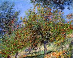 Claude Monet - Apple Trees on the Chantemesle Hill, 1878