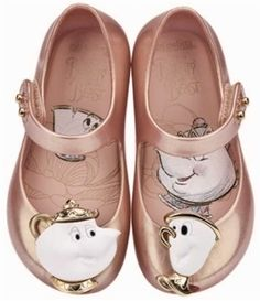 Back In Stock! Pink Beauty and The Beast Mini Melissa shoes at Honeypiekids.com  #beautyandthebeast #minimelissashoes #minimelissa #beautyandthebeastminimelissashoe
