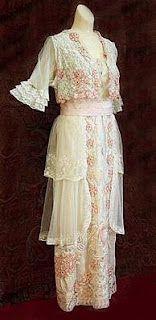 Gorgeous Edwardian tea gown