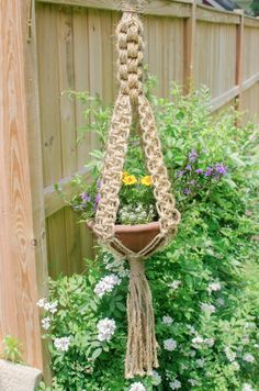 macrame hanging planter persia macram macram. Black Bedroom Furniture Sets. Home Design Ideas