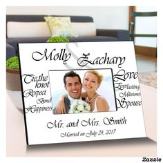 White Everlasting Love Wooden Picture Frames