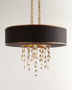 Black Tie Chandelier by John-Richard Collection at Neiman Marcus. 3 Light Chandelier, Modern Chandelier, Modern Lighting, Lighting Design, Lighting Ideas, Kitchen Chandelier, Lamp Light, Ceiling Lamp, Ceiling Lights