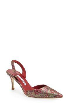 Manolo Blahnik 'Carolyne' Slingback Pump available at Slingback Pump, Pumps, Heels, Manolo Blahnik, Designer Shoes, Me Too Shoes, Nordstrom, Sandals, Elegant