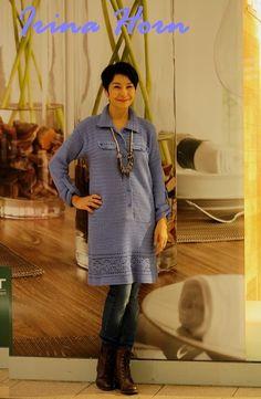 Платье -рубашка крючком, завершение 2014 года. - мое хобби мои работы . Обсуждение на LiveInternet - Российский Сервис Онлайн-Дневников