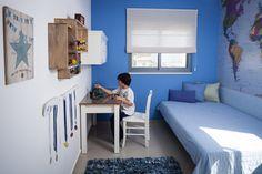 עיצוב החדר של אביב Modern Boys Rooms, Toilet Room, Kid Spaces, Boy Room, Kids Bedroom, Toddler Bed, Storage, House, Furniture