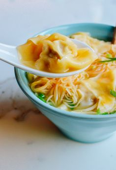 Cantonese Wonton Noodle Soup recipe is as comforting as it is authentic. Pork and shrimp wontons, clear broth, and hong kong style egg noodles make an awesome dish. Wonton Noodle Soup, Wonton Noodles, Egg Noodles, Noodle Soups, Wan Tan, Shrimp Wonton, Vegan Shrimp, Soup Recipes, Gourmet