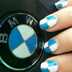 BMW #Nails to match car.