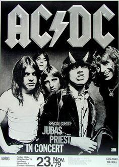 AC/DC German Concert Poster