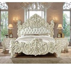 Homey design hd 8089 ekset white finish 5 piece eastern king bed set is one of images from homey design bedroom set. Find more homey design bedroom set images like this one in this gallery Luxury Bedroom Sets, Luxury Bedroom Furniture, Luxurious Bedrooms, Furniture Design, Bedroom Decor, Wood Bedroom, Bedroom Ideas, Bed Furniture, Luxury Bedding