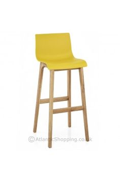 drift oak u0026 yellow bar stool