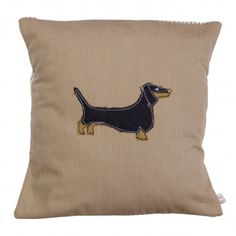 Poppy Treffry - Dachshund Dog - Cushion Cover (cover only) Dachshund Dog, Dachshunds, Dog Cushions, Embroidered Cushions, Tea Towels, Poppy, Throw Pillows, Sausage Dogs, Etsy