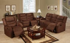 3 Pcs Motion Sofa Set Sofa Loveseat Recliner Chocolate Microfiber Living Room for sale online Sofa And Loveseat Set, Furniture, Sofa Upholstery, Sofa Inspiration, Sofa Furniture, Love Seat, Contemporary Sofa, Living Room Recliner, Sofa Set