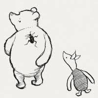 I love this illustration of Piglet!