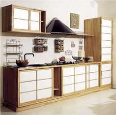 japanese kitchen looking good in dark wood | interior wonderland