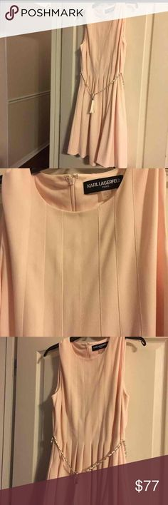 Karl Lagerfeld Ladies Pink Dress Size 14 NWT NWT Ladies Pink Designer Dress Size 14 Karl Lagerfeld Dresses Midi