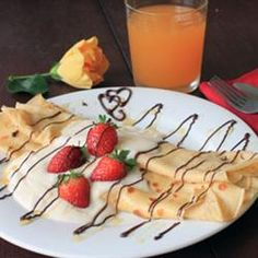 French Crepes can be stuffed with sweet or savory ingredients for an elegant meal. Bon appétit!