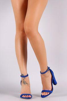Shoe Republic LA Open Toe Ankle Strap Chunky Heel