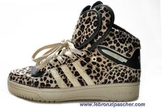 Adidas Attitude Logo Double Heart Tongue Leopard Chaussures Sortie
