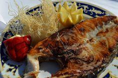 Corvina a la plancha (Restaurante Toruño, El Rocío, Almonte, Huelva)